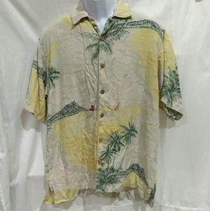 Tommy Bahama Silk Button Down Camp Shirt